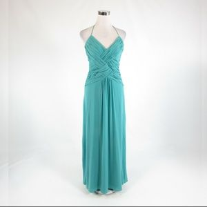 Teal green LAUNDRY BY SHELLI SEGAL maxi dress 6